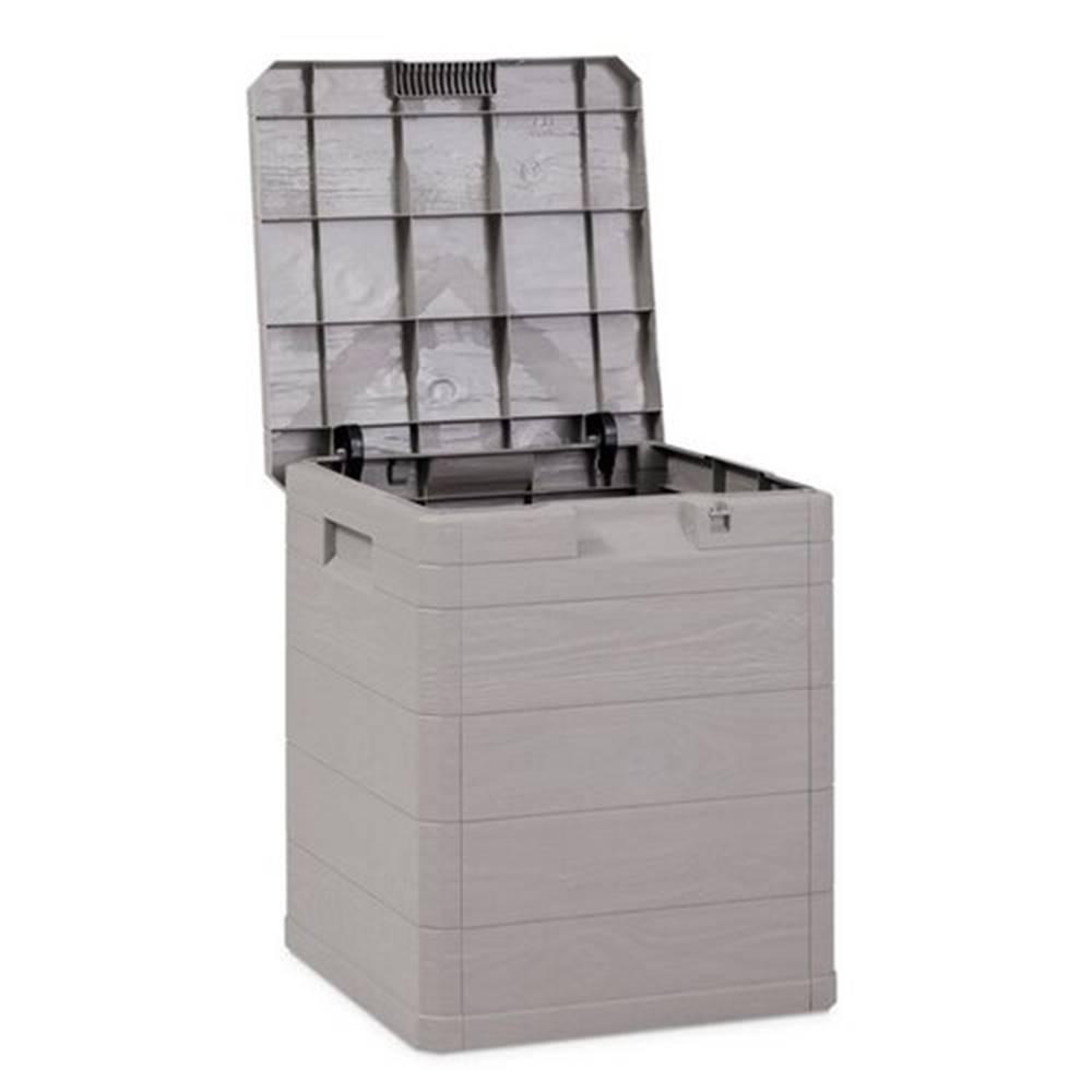 Woody Úložný box na podušky Woody sivá, 90 l