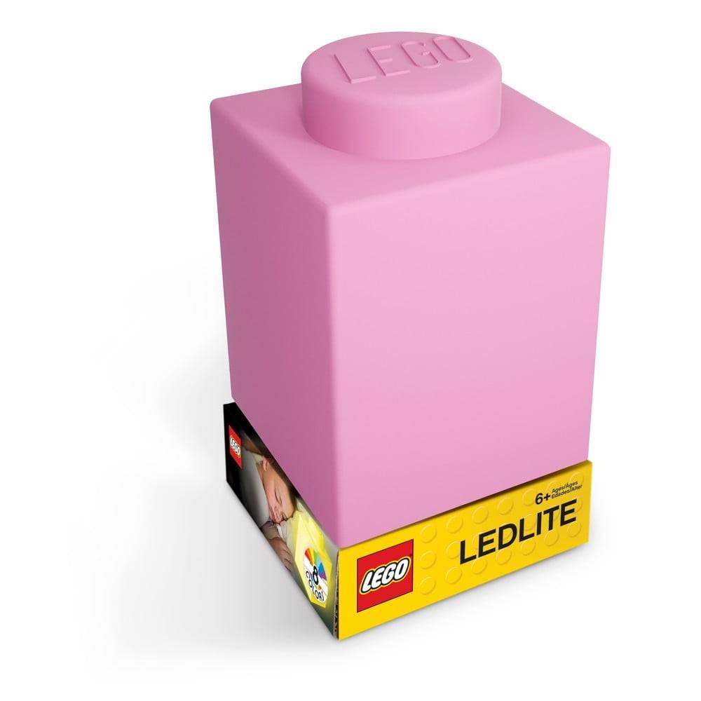 LEGO® Ružové silikónové nočné svetielko LEGO® Classic Brick